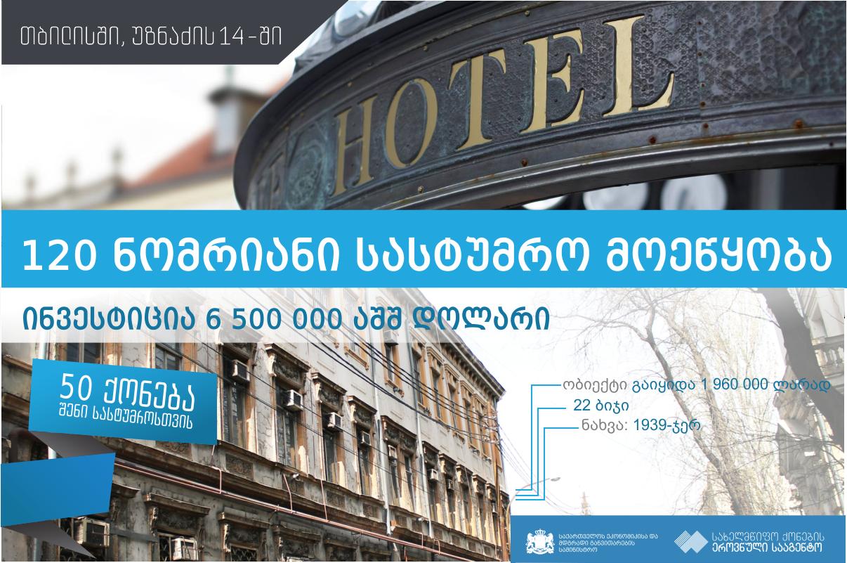 თბილისში უზნაძის ქუჩაზე  სასტუმრო აშენდება