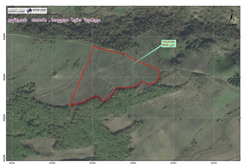 დუშეთის რაიონში, სოფელ ზემო შუახევში მდებარე 66160 კვ.მ.სასოფლო-სამეურნეო (სახნავი) დანიშნულების მიწის ნაკვეთი
